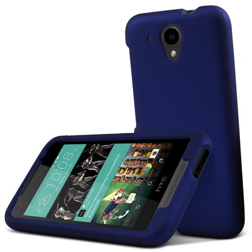 HTC Desire 520 Case, [Blue] Slim & Protective Rubberized Matte Hard Plastic Case