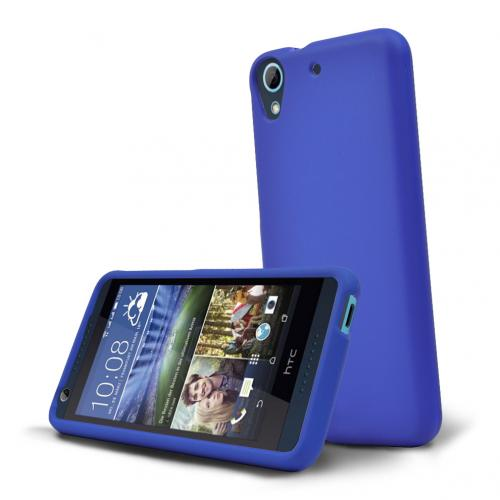 HTC Desire 626 Case, [Blue] Slim & Protective Rubberized Matte Hard Plastic Case