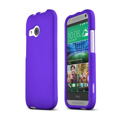 Purple HTC One Remix Matte Rubberized Hard Case Cover; Perfect fit as Best Coolest Design Plastic Cases