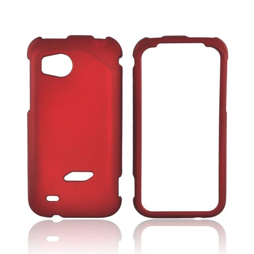 HTC Rezound Rubberized Hard Case - Red