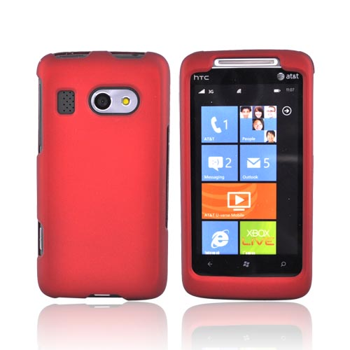 HTC Surround Rubberized Hard Case - Red