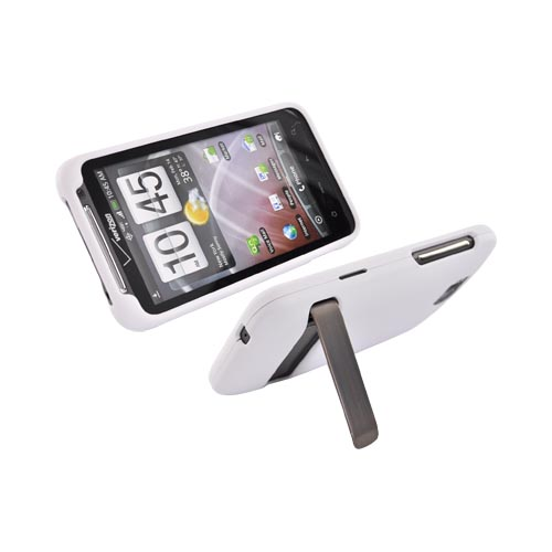 HTC Thunderbolt Rubberized Hard Case - White