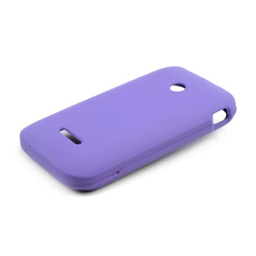 Purple Rubberized Hard Case for T-Mobile Prism 2