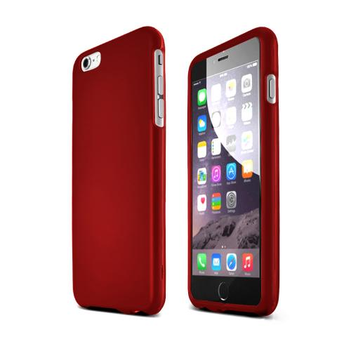 Apple iPhone 6 PLUS/6S PLUS (5.5 inch) Hard Case,  [Red]  Slim & Protective Rubberized Matte Finish Snap-on Hard Polycarbonate Plastic Case Cover