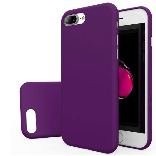 Made for Apple iPhone 8/7/6S/6 Plus Case, Slim Protective Rubberized Matte Finish Snap-on Hard Polycarbonate Plastic Case Cover [Purple] with Travel Wallet Phone Stand by Redshield