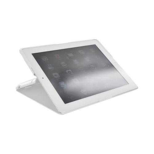 Apple iPad 2 Slim Standing Hard Case w/ Adjustable Stand Angles - White