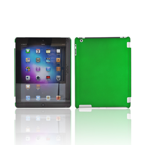 Apple New iPad (3rd Gen.) Rubberized Hard Case - Green (Works with Smart Cover!)