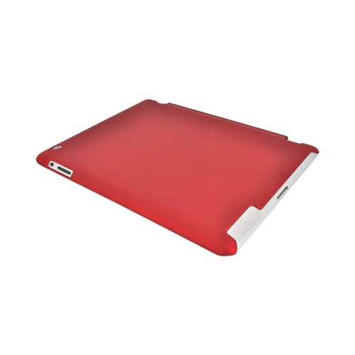Made for Apple New iPad (3rd Gen.) Rubberized Hard Case - Red (Works with Smart Cover!) by Redshield