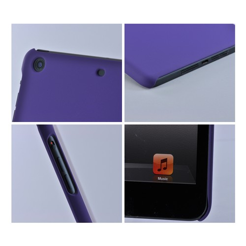 Made for Apple iPad Mini 1/2/3 Purple Rubberized Hard Case by Redshield