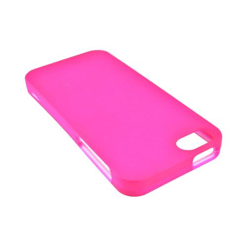 Apple iPhone SE / 5 / 5S Hard Case,  [Hot Pink]  Slim & Protective Rubberized Matte Finish Snap-on Hard Polycarbonate Plastic Case Cover