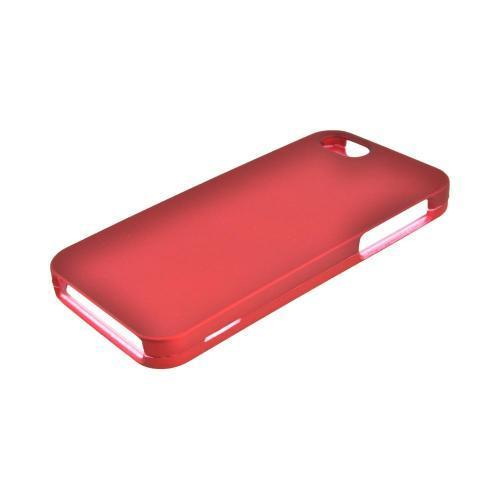 Apple iPhone SE / 5 / 5S Hard Case,  [Red]  Slim & Protective Rubberized Matte Finish Snap-on Hard Polycarbonate Plastic Case Cover