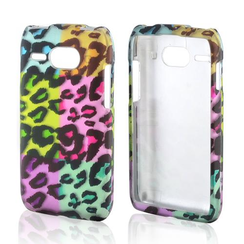 Multi-Colored Artsy Leopard Rubberized Hard Case for Kyocera Event C5133