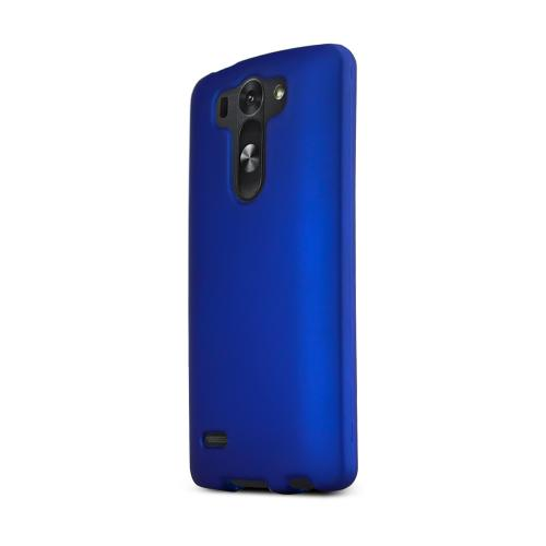 Blue LG G3 Mini Matte Rubberized Hard Case Cover; Perfect fit as Best Coolest Design Plastic Cases