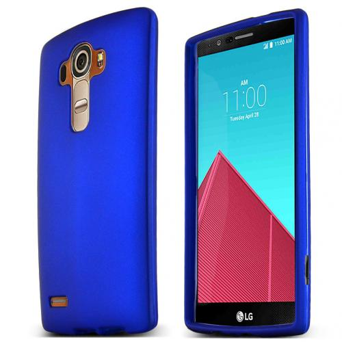 LG G4 Case, [Blue] Slim & Protective Rubberized Matte Finish Snap-on Hard Polycarbonate Plastic Case Cover