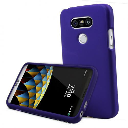 LG G5 Case, REDshield  [Purple] Slim & Protective Rubberized Matte Finish Snap-on Hard Polycarbonate Plastic Case Cover with Travel Wallet Phone Stand