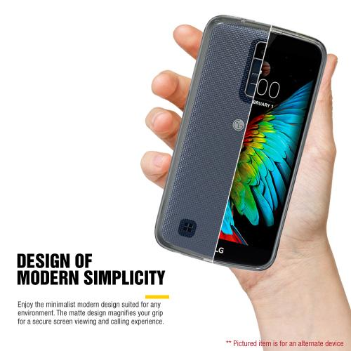 LG K10 Case, REDshield [Black] Slim & Protective Rubberized Matte Finish Snap-on Hard Polycarbonate Plastic Case Cover