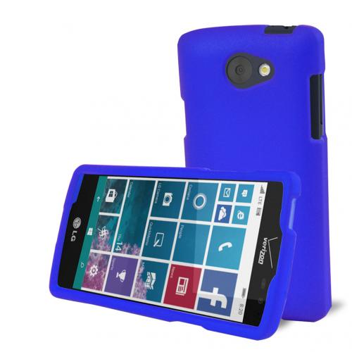 LG Lancet Case, [Blue] Slim & Protective Rubberized Matte Hard Plastic Case