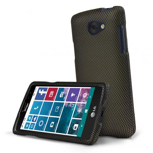 LG Lancet Case, [Carbon Fiber Design] Slim & Protective Rubberized Matte Hard Plastic Case
