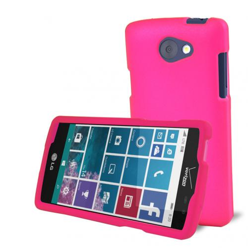 LG Lancet Case, [Hot Pink] Slim & Protective Rubberized Matte Hard Plastic Case