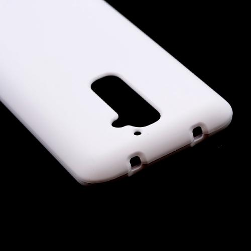 White Rubberized Hard Case for LG G2 (AT&T, T-Mobile, & Sprint)