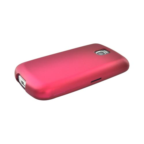 LT Optimus T, LG Thrive Rubberized Hard Case - Rose Pink
