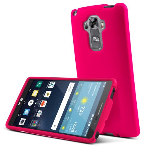 LG G Vista 2 Case, [Hot Pink] Slim & Protective Rubberized Matte Finish Snap-on Hard Polycarbonate Plastic Case Cover