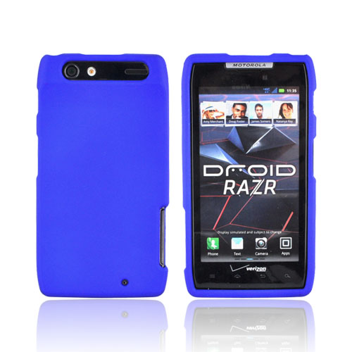 Motorola Droid RAZR Rubberized Hard Case - Blue