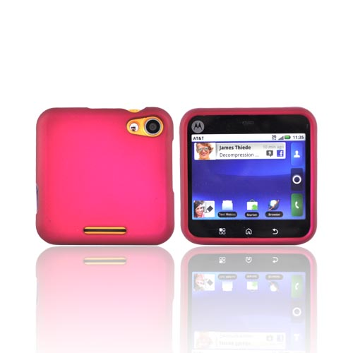 Motorola Flip Out MB511 Rubberized Hard Case - Rose Pink