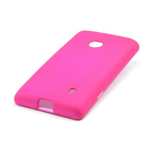 Hot Pink Rubberized Hard Case for Nokia Lumia 521