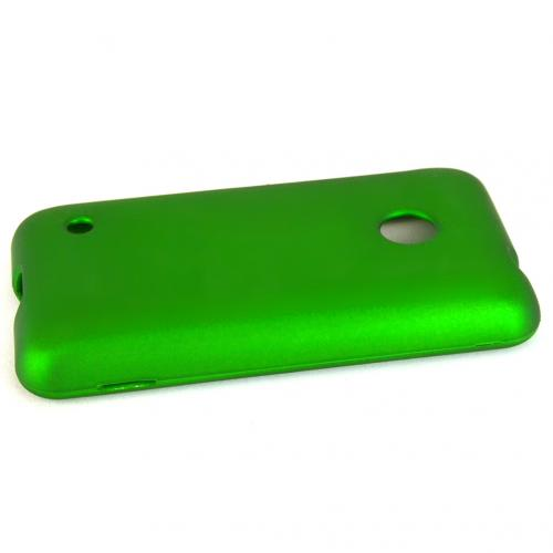 Green Nokia Lumia 530 Matte Rubberized Hard Case Cover