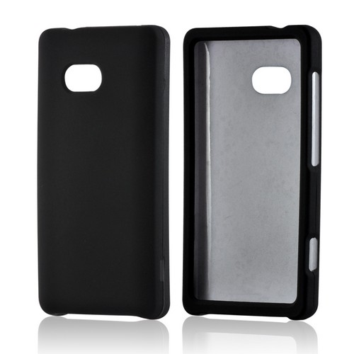 Black Rubberized Hard Case for Nokia Lumia 810