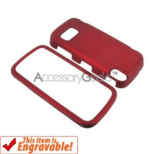Nokia XpressMusic 5800 Rubberized Hard Case - Red