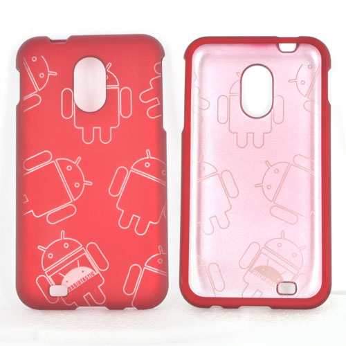 Samsung Epic 4G Touch Rubberized Androitastic Hard Case - Red