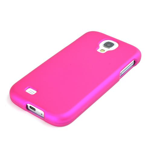 Rose Pink Rubberized Hard Case for Samsung Galaxy S4