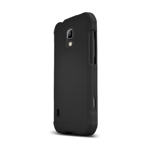 Black Samsung Galaxy S5 Active Matte Rubberized Hard Case Cover; Perfect fit as Best Coolest Design Plastic cases