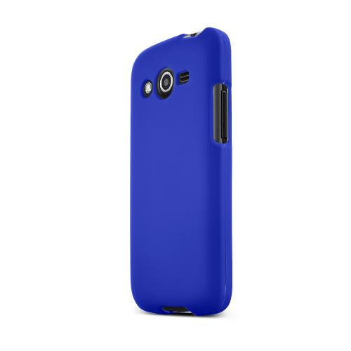 Blue Samsung Galaxy Avant Matte Rubberized Hard Case Cover; Perfect fit as Best Coolest Design Plastic Cases