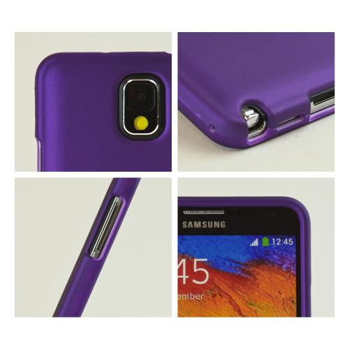 Purple Rubberized Hard Case for Samsung Galaxy Note 3