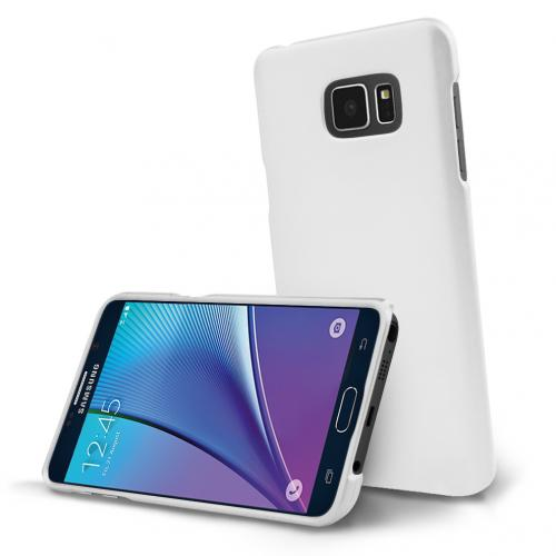 Samsung Galaxy Note 5, [White]  Slim & Protective Rubberized Matte Finish Snap-on Hard Polycarbonate Plastic Case Cover