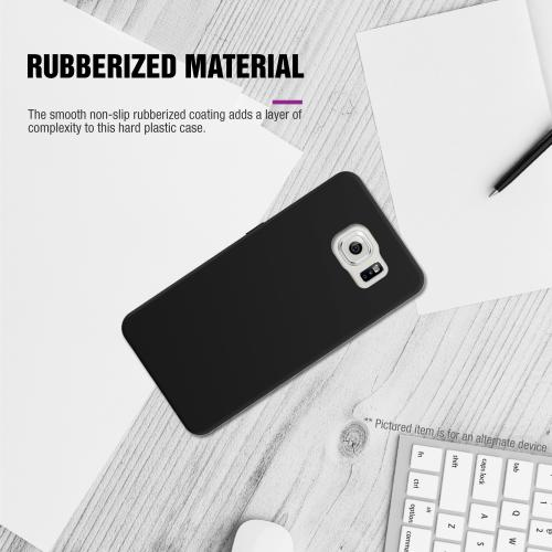 Samsung Galaxy S6 Case,  [Carbon Fiber Design]  Slim & Protective Rubberized Matte Finish Snap-on Hard Polycarbonate Plastic Case Cover