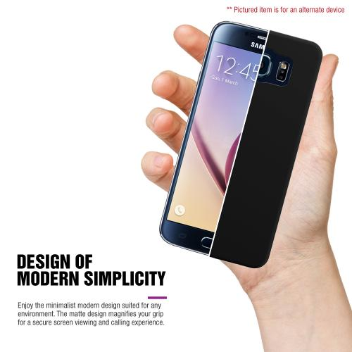 Samsung Galaxy S6 Edge Plus,  [Black]  Slim & Protective Rubberized Matte Finish Snap-on Hard Polycarbonate Plastic Case Cover
