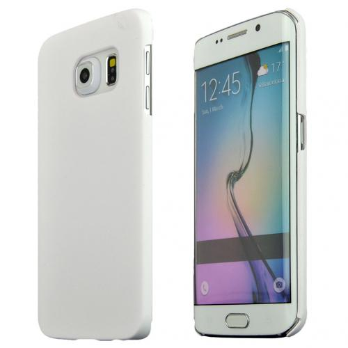 Samsung Galaxy S6 Edge Case,  [White]  Slim & Protective Rubberized Matte Finish Snap-on Hard Polycarbonate Plastic Case Cover