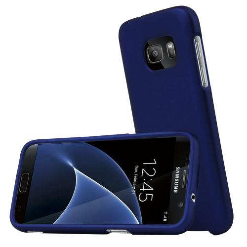 Samsung Galaxy S7 Case, REDshield  [Blue] Slim & Protective Rubberized Matte Finish Snap-on Hard Polycarbonate Plastic Case Cover with Travel Wallet Phone Stand