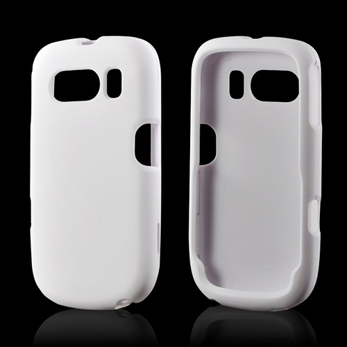 Solid White Rubberized Hard Case for ZTE Aspect F555