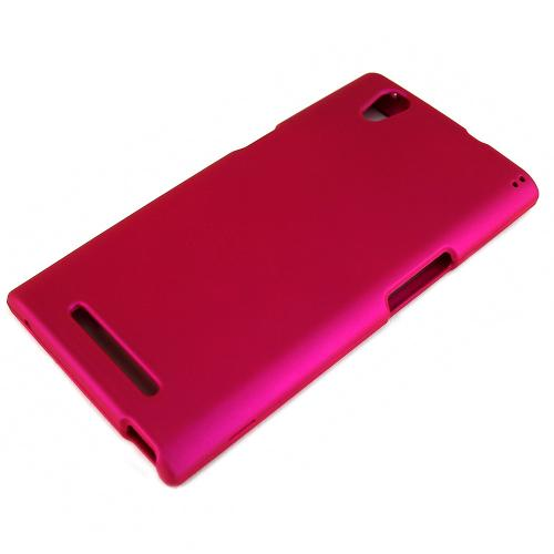 ZMax Case, [Rose Pink] Slim Grip Rubberized Hard Plastic Case for ZTE ZMax