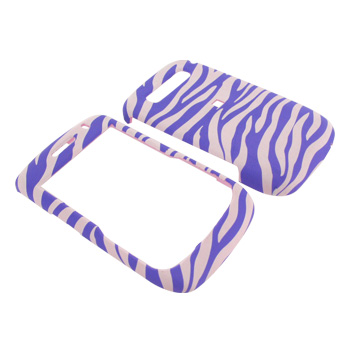 Blackbery Curve 8900 Rubberized Hard Case - Light Purple Zebra on White