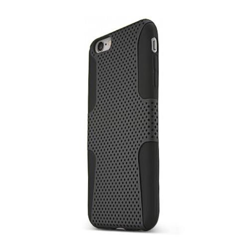 Made for Apple iPhone 6 PLUS/6S PLUS (5.5 inch) Heavy Case,  [Black] Rubberized Mesh Supreme Protection Silicone Dual Layer Hybrid Case by Redshield