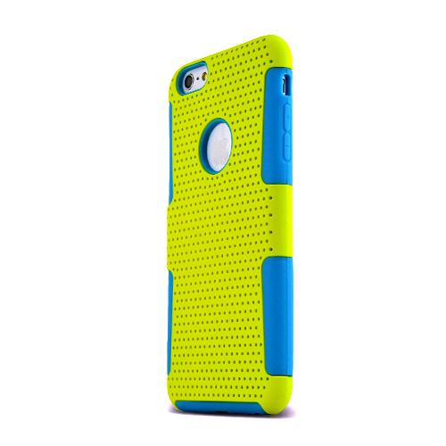 Made for Apple iPhone 6 PLUS/6S PLUS (5.5 inch) Heavy Case,  [Yellow/ Teal] Rubberized Mesh [Logo-Cut-Out] Supreme Protection Silicone Dual Layer Hybrid Case by Redshield