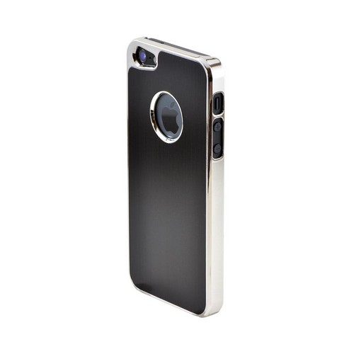 Apple iPhone SE / 5 / 5S  Case,  [Black]  Hard Back Case w/ Aluminum