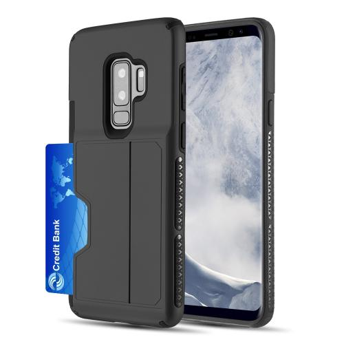 [Samsung Galaxy S9 PLUS] Redshield Card TO GO II Hybrid Case PC + TPU with Card Slot [Black]