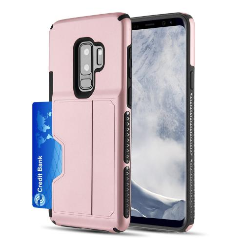 [Samsung Galaxy S9 PLUS] Redshield Card TO GO II Hybrid Case PC + TPU with Card Slot [Rose Gold]